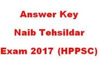 naib tehsildar exam paper 2017 answer key