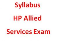 Syllabus HP Allied Services Exam
