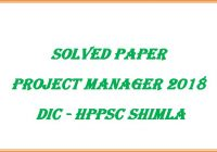 Project Manager Paper DIC 2018