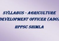 Syllabus ADO HPPSC Shimla