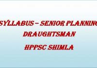 Syllabus Senior Planning Draughtsman HPPSC Shimla