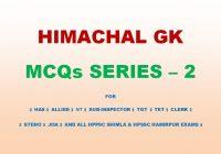Himachal GK MCQs Series 2