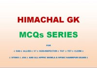 Himachal GK MCQs Series