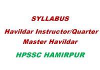 Syllabus Havildar Instructor HPSSC Hamirpur