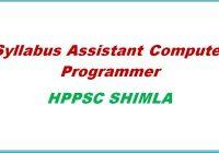 syllabus assistant computer programmer hppsc shimla himachal pradesh general studies