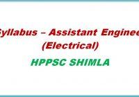syllabus assistant engineer hppsc shimla himachal pradesh general studis