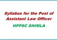 syllabus for Assistant Law Officer hppsc shimla himachal pradesh general studies