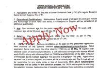 jobs in sainik school sujanpur tira himachal pradesh